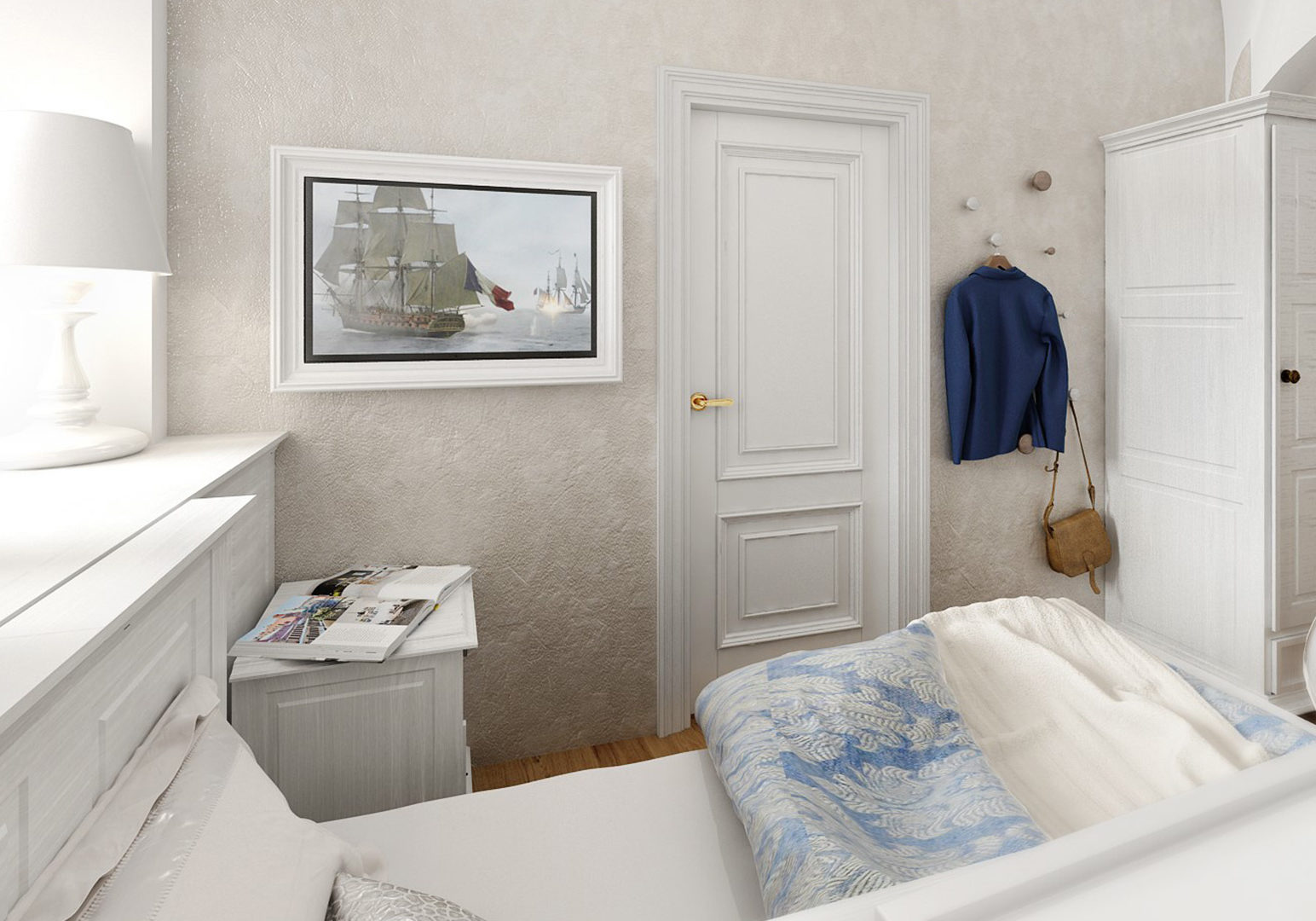 Jednolůžkový pokoj s balkónem
